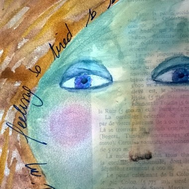 Art journal, I feel so so tired …