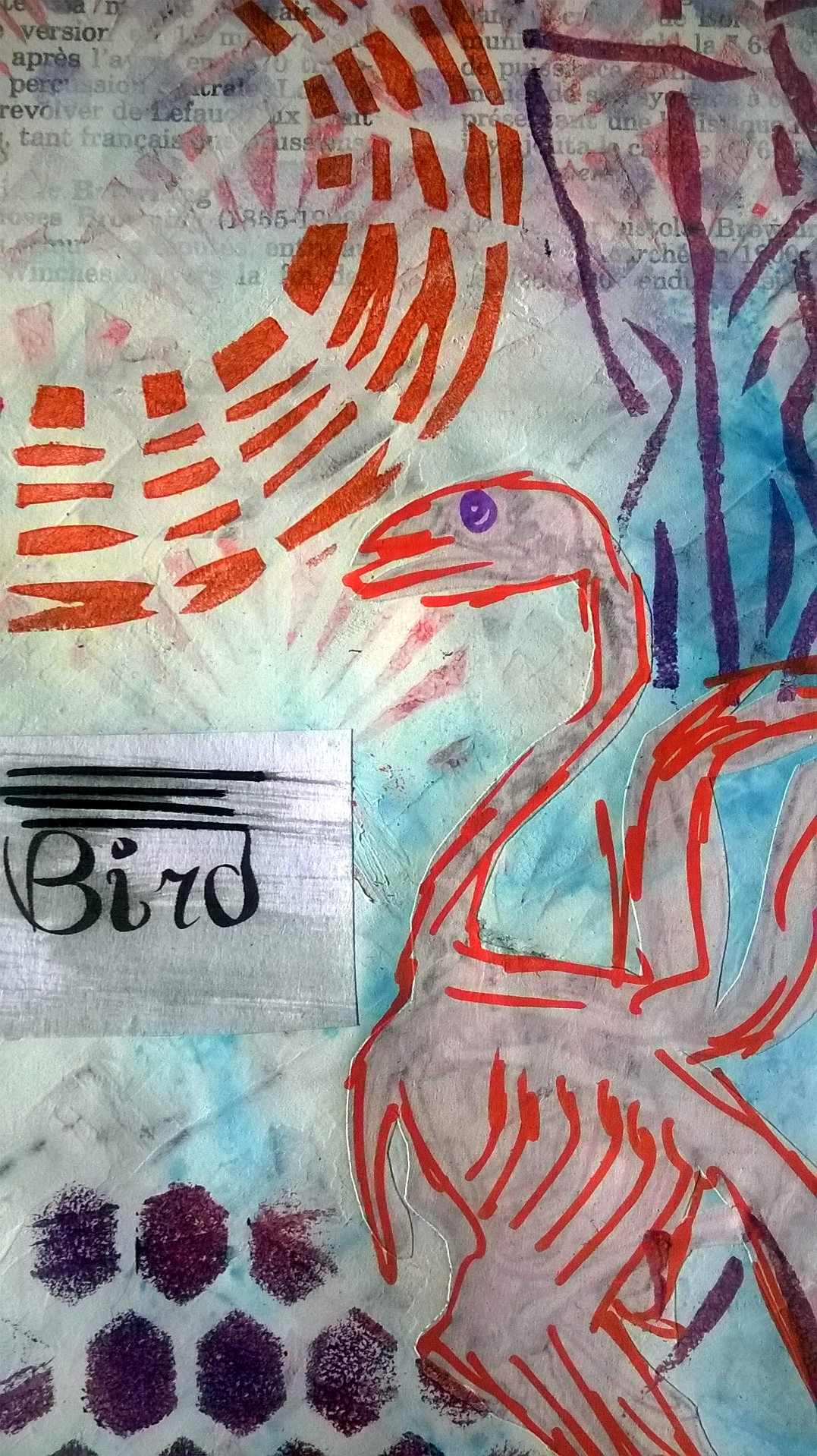 Mixed Media – 100 Artworks – #24 Dead Bird – 06