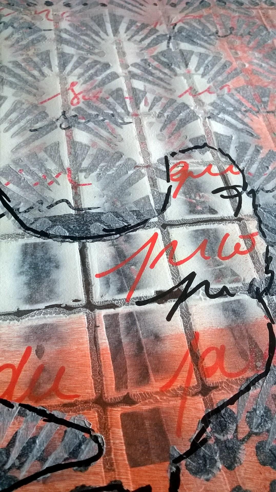 Mixed Media – 100 Artworks – #27 Une Poule sur un Mur – 03