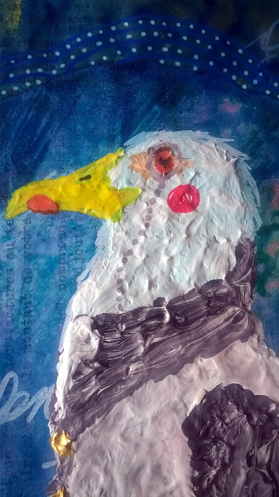 Mixed Media – 100 Artworks – #36 Smart as a GentleBird – 07