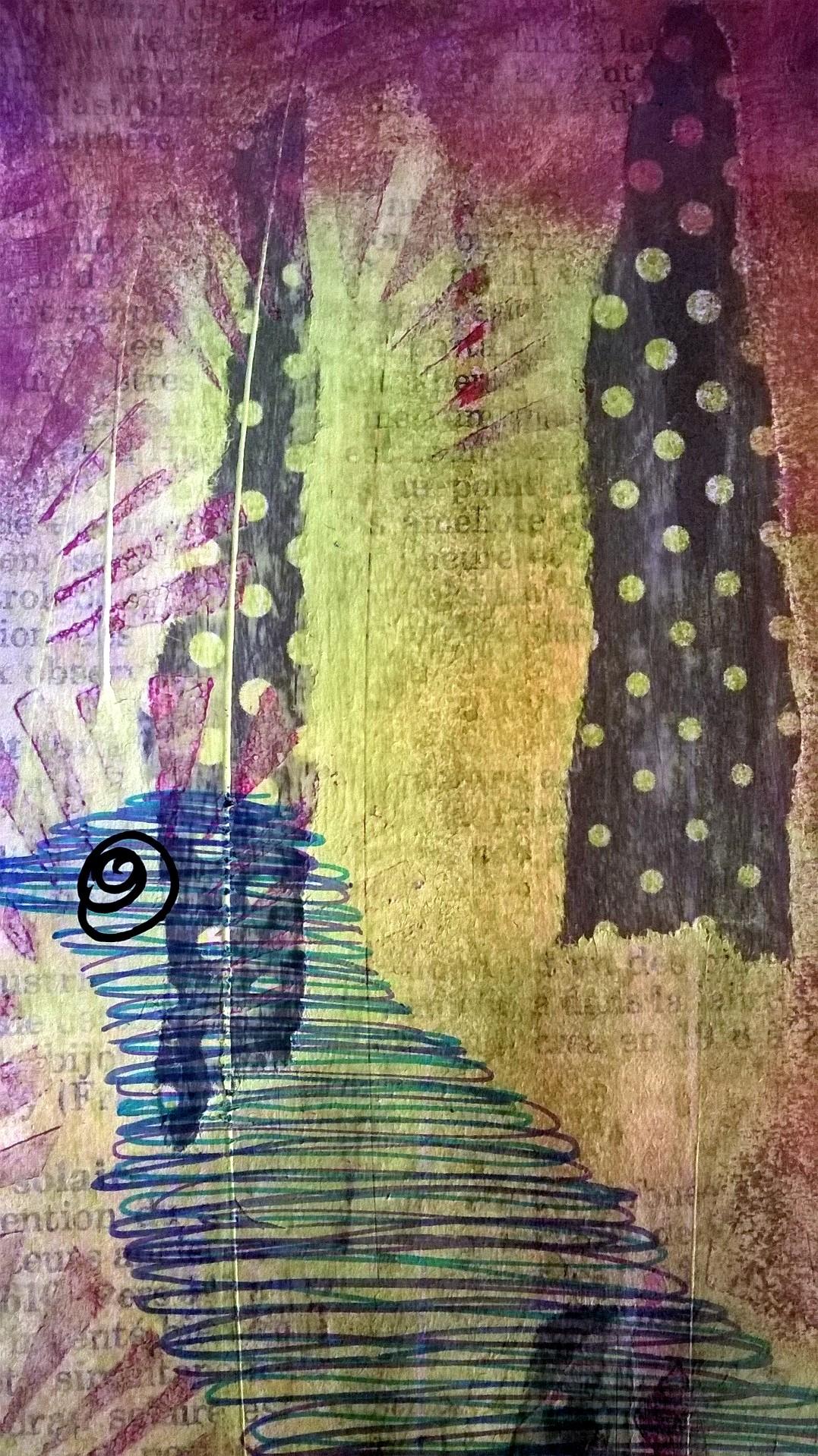 Mixed Media – 100 Artworks – #41 Bird Wire – 02