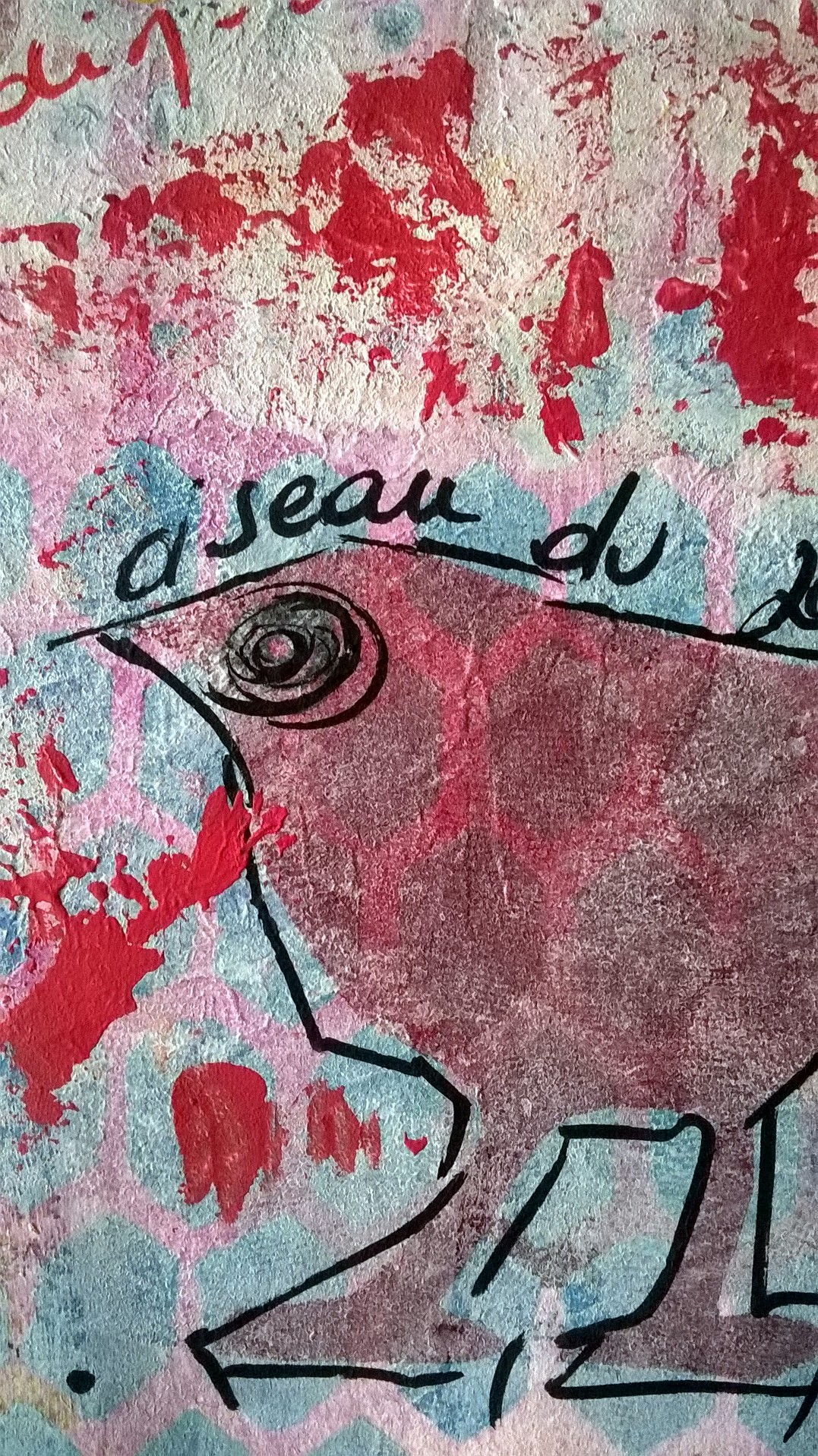 Mixed Media – 100 artworks – #43 Oiseau de Jardin – 04