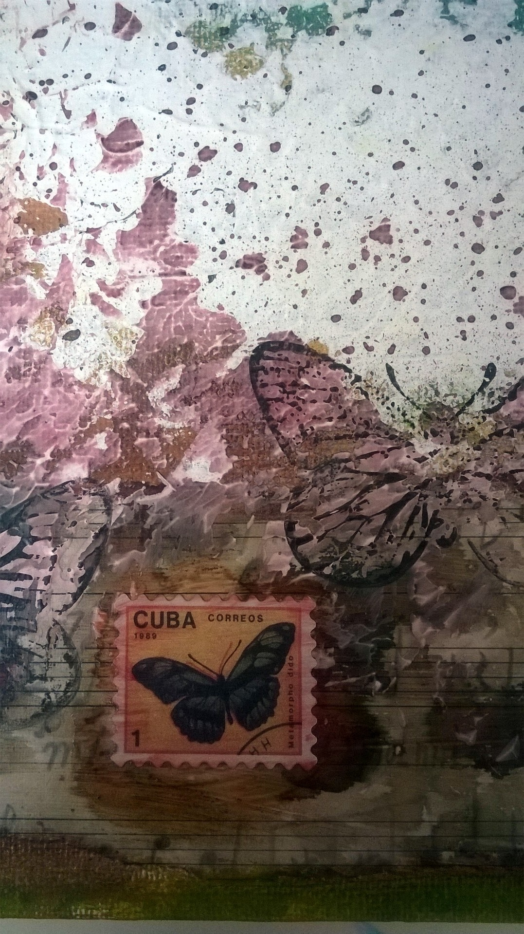 Mixed Media – I wish I was a Butterfly 07