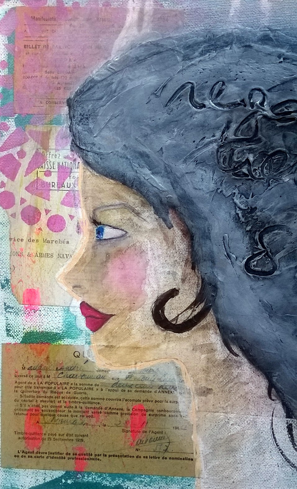 Mixed Media - Regarde Devant