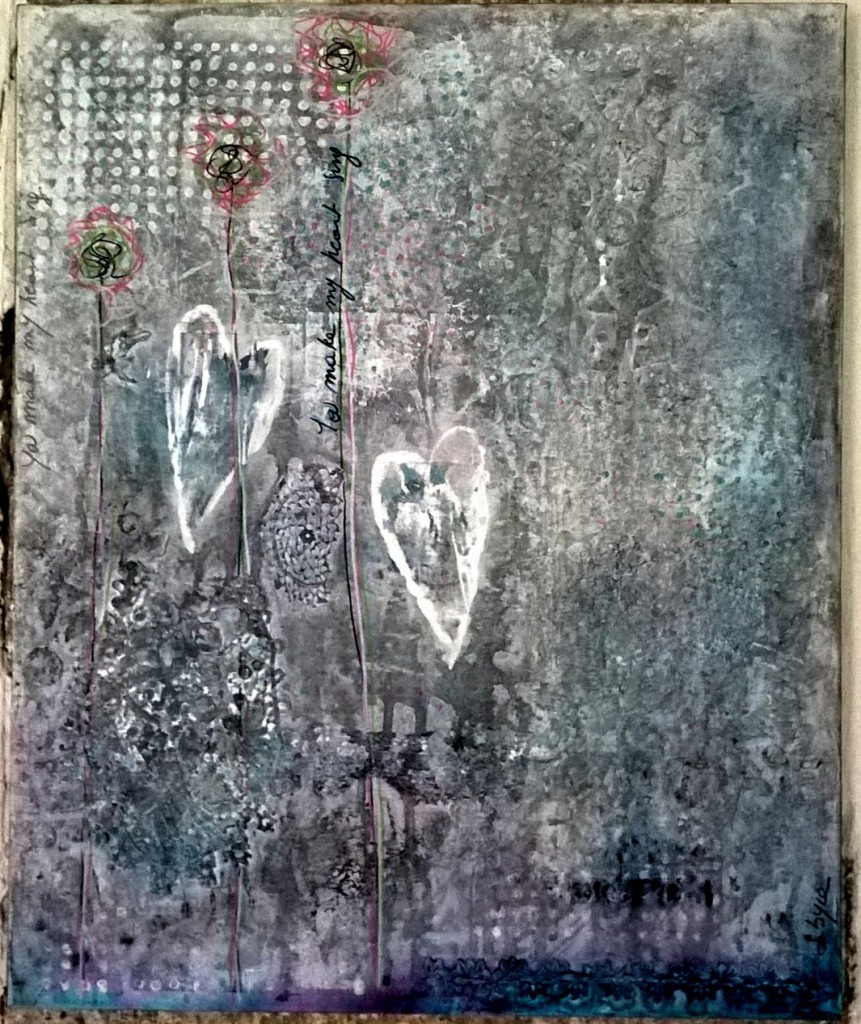 Mixed Media - Red and White Snow - You Make my Heart Sing