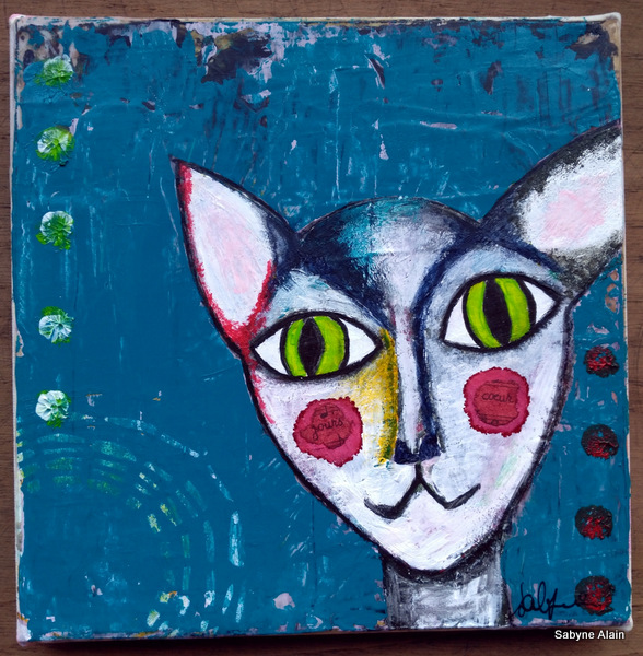 Mixed Media – Kindness Cat 01b