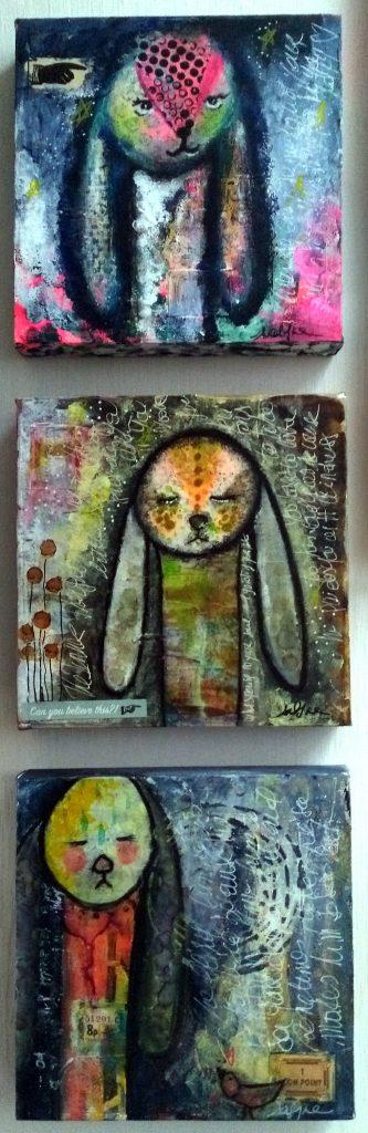 Mixed Media - Mystic Bunnies