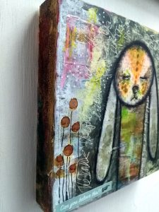 Mixed Media - The Inner Thoughts Bunny