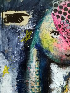 Mixed Media - The Soothsayer Bunny