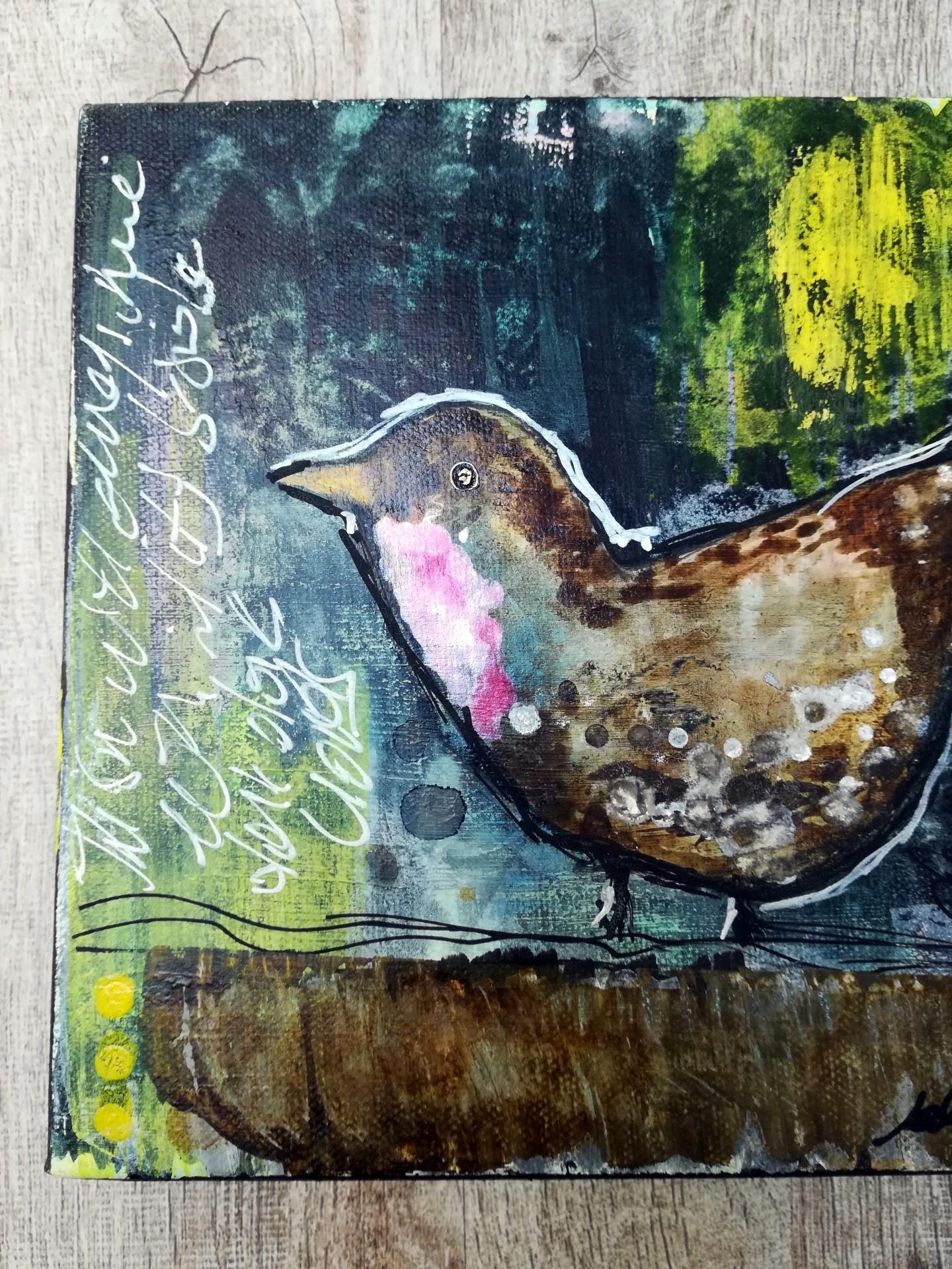 Mixed Media – A Friendly Robin 03