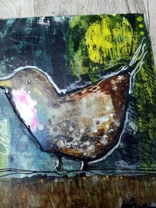 Mixed Media - A Friendly Robin
