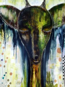 Mixed Media - Deers are Wise Guardians