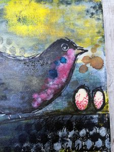 Mixed Media - Future Robin is Coming
