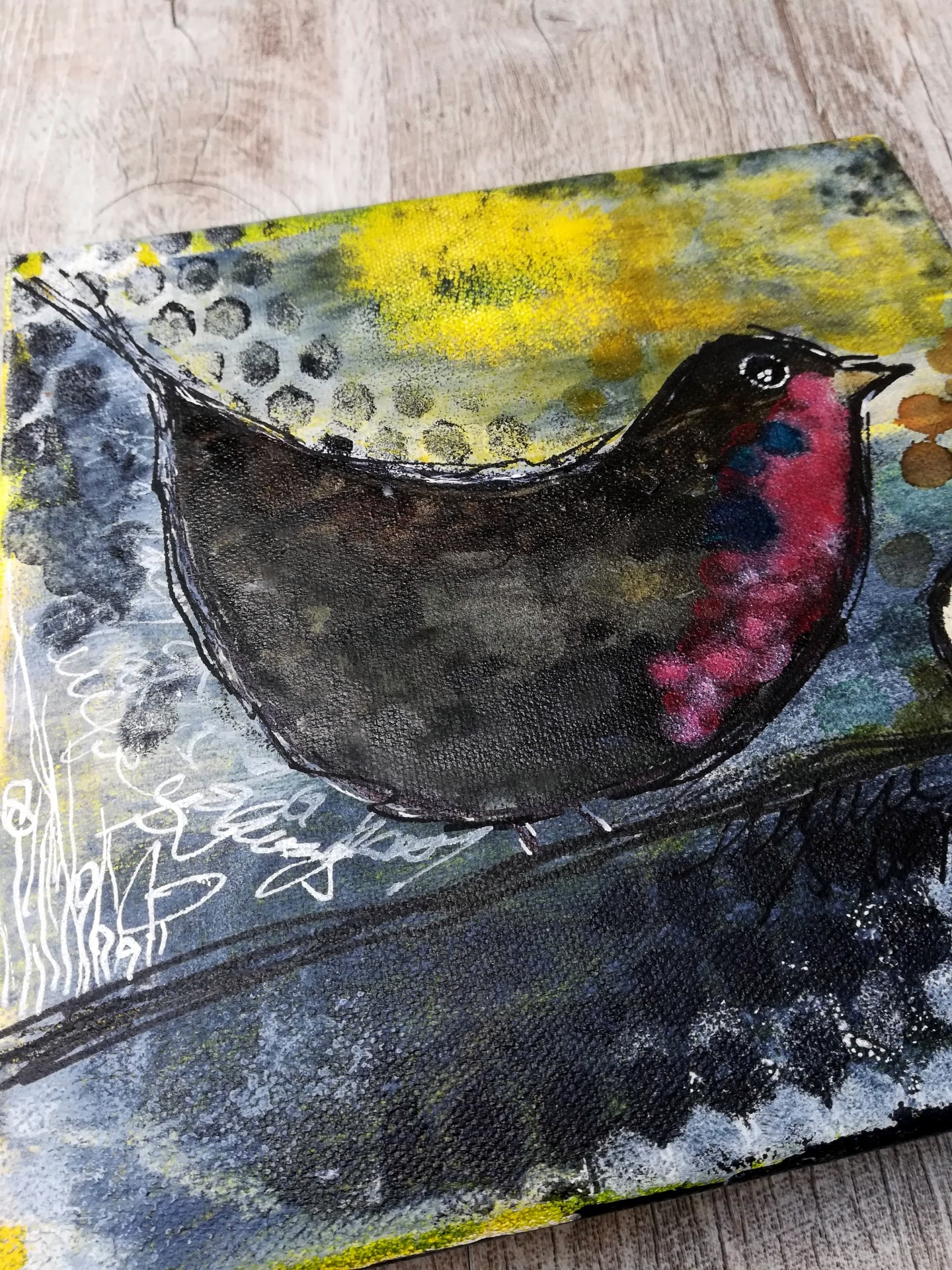 Mixed Media – Future Robin is Coming 07