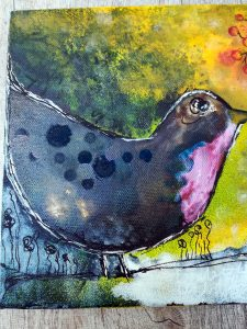 Mixed Media - Winter Robin