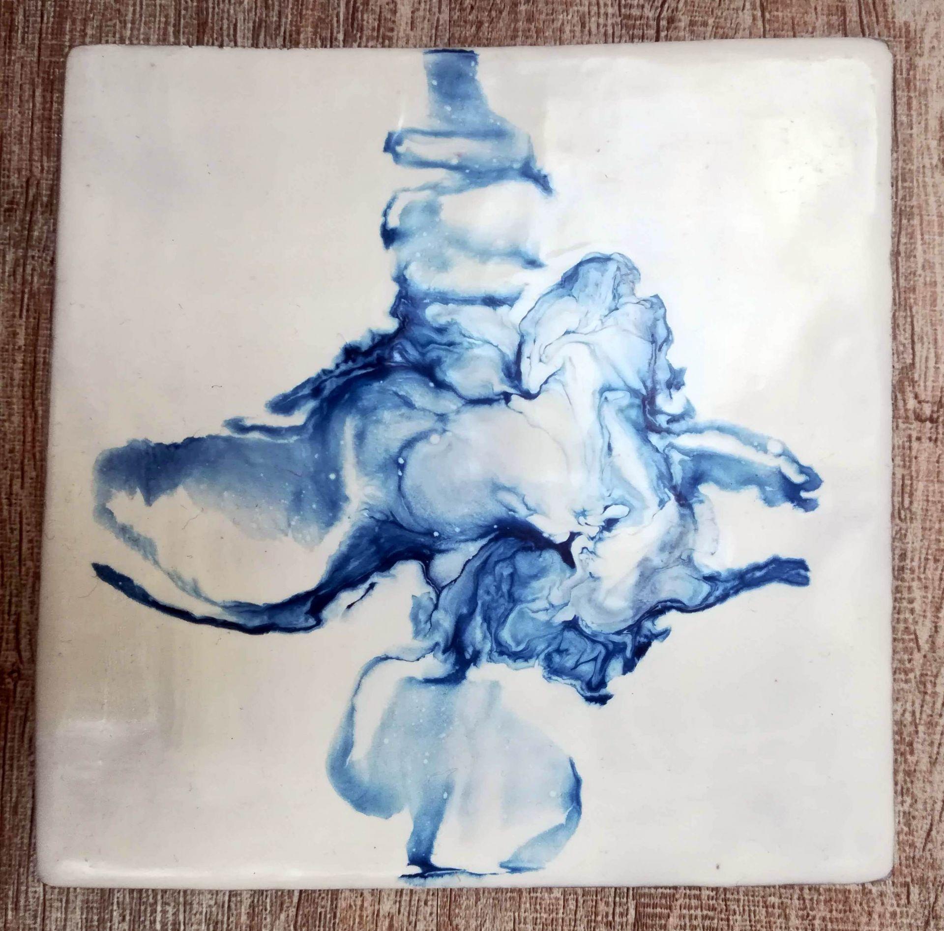 abstrait encaustique bleu1