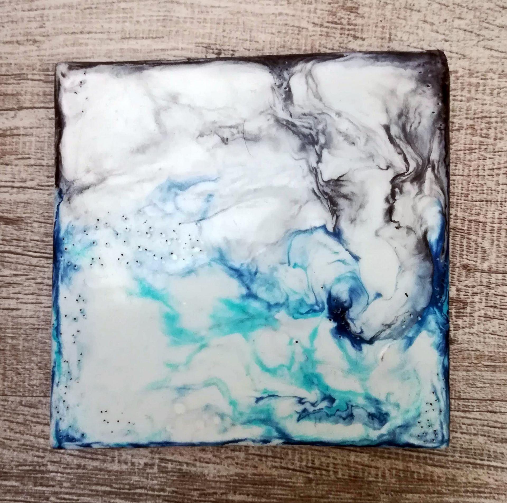 duo encaustique bleu