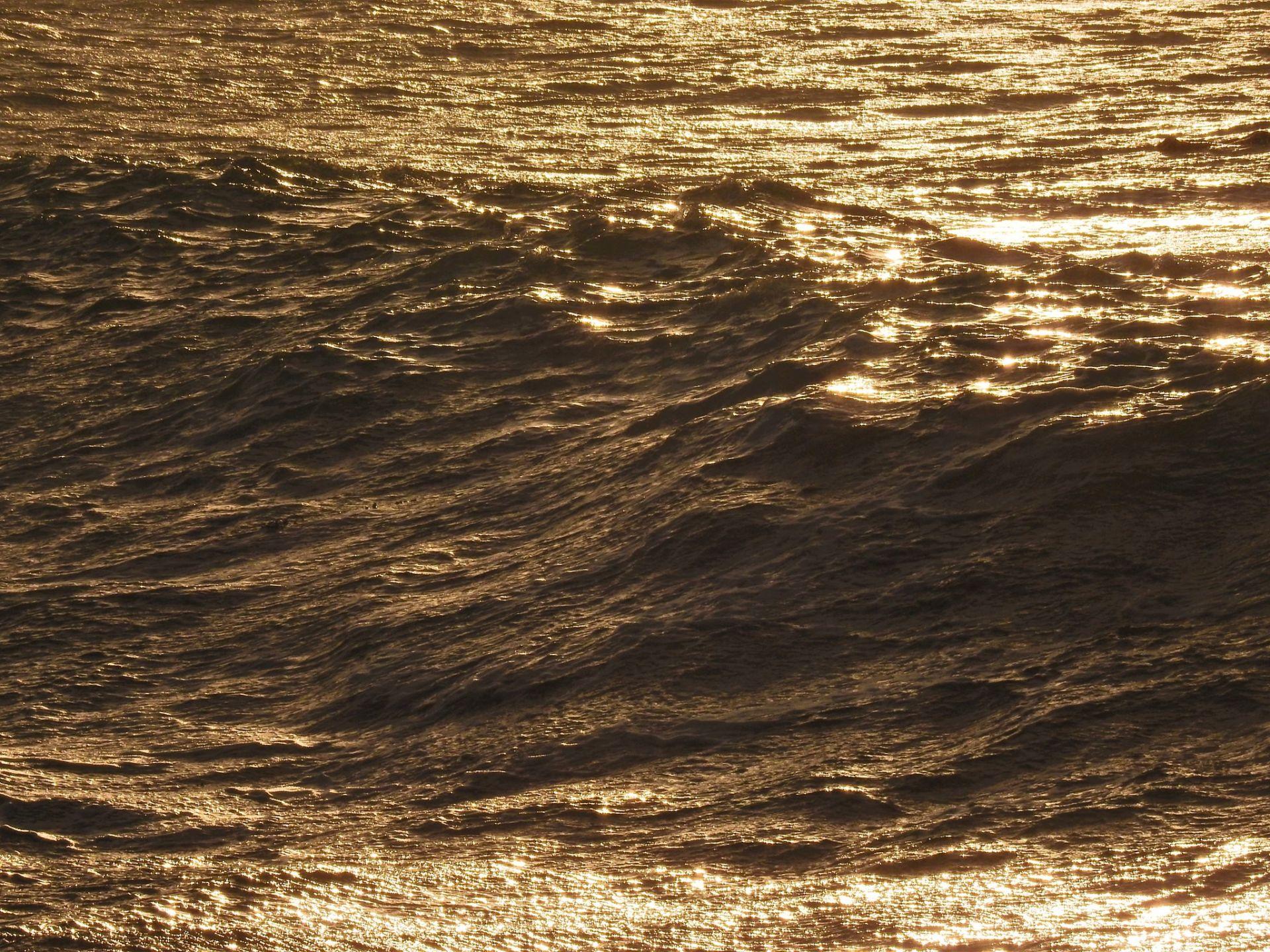 soleil couchant, bord de mer, bretagne