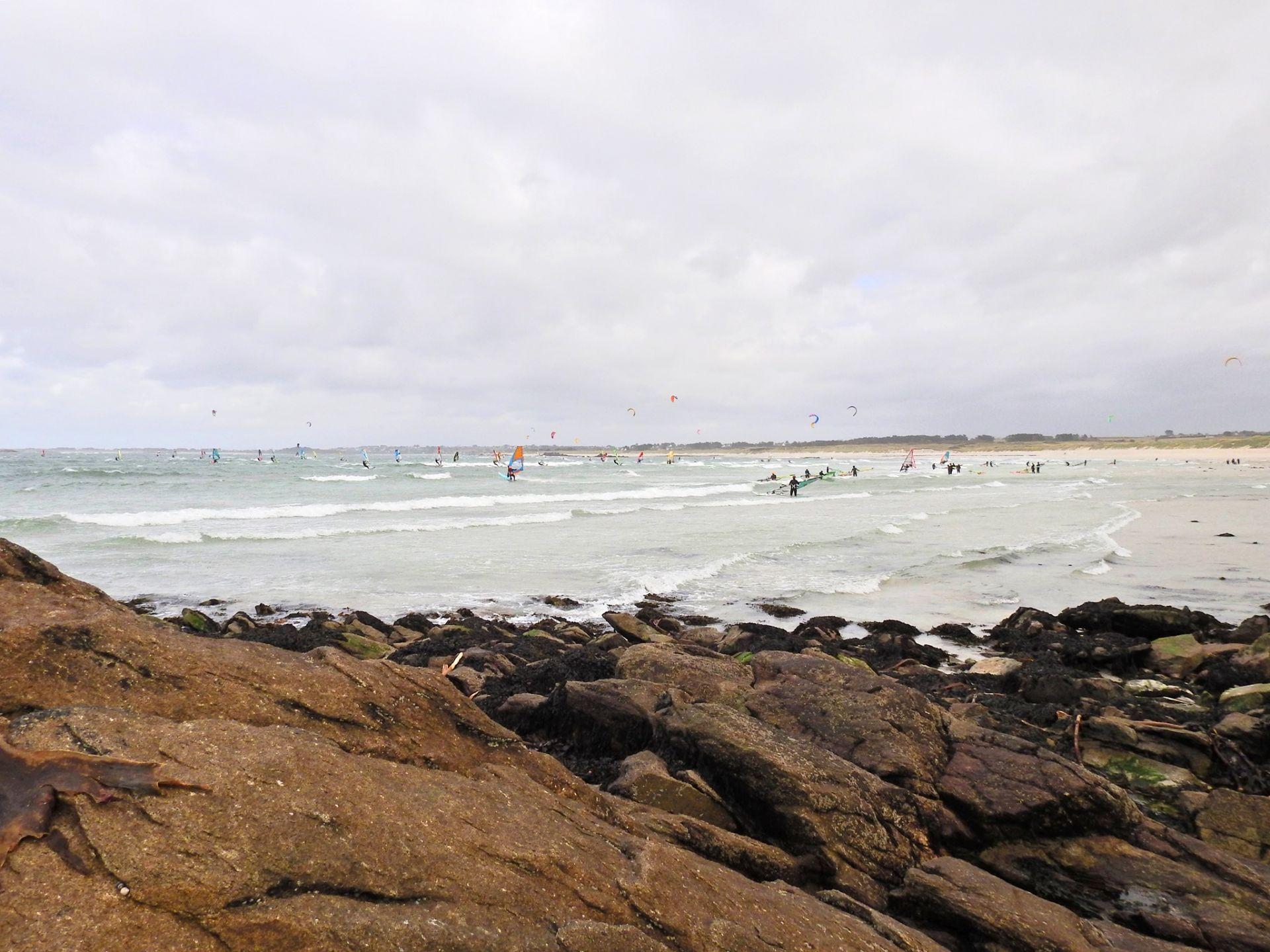 planche à voile, océan, bretagne, bord de mer