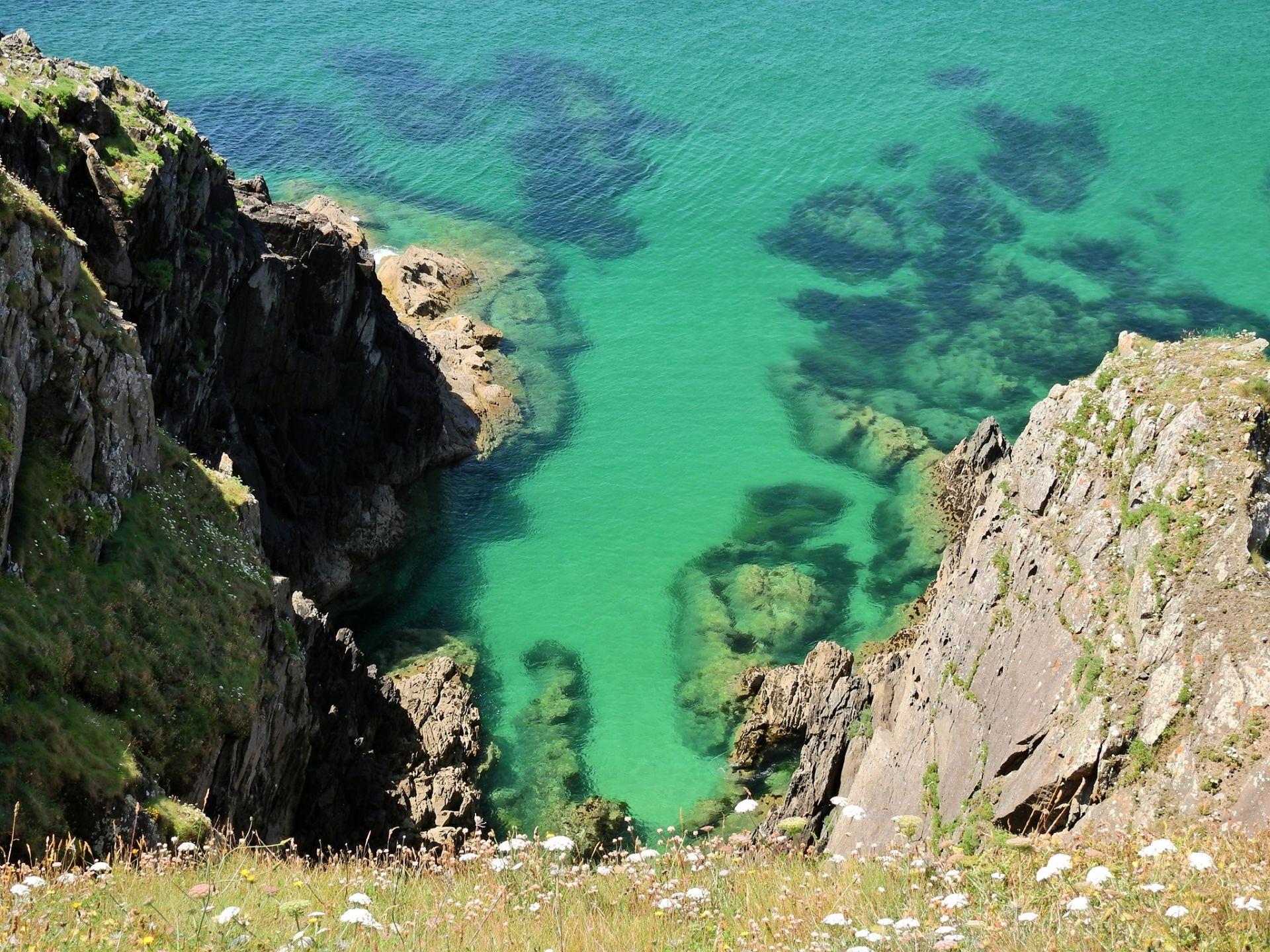 paysage breton, bord de mer, océan