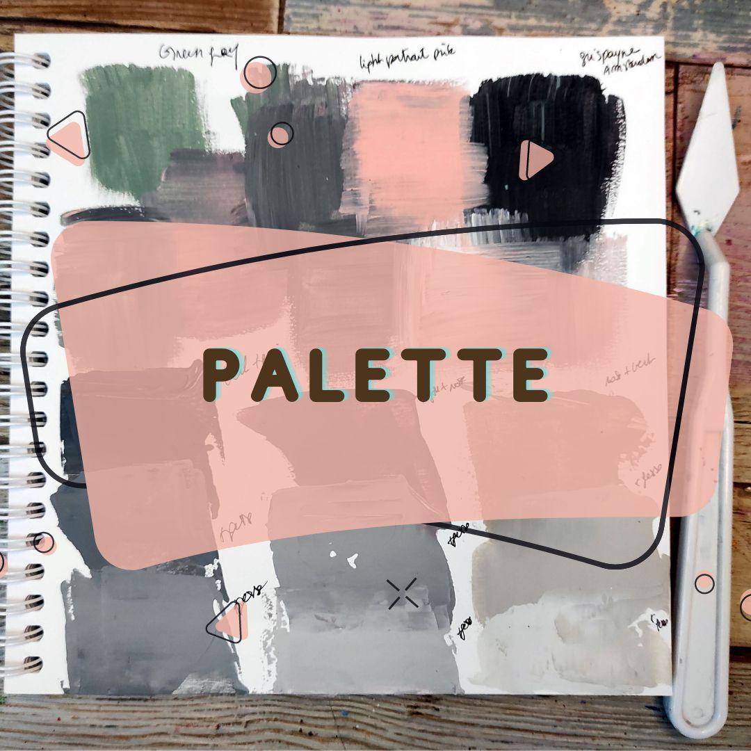 astuce art, tuto art, détente, bien être, palette peinture, nuancier