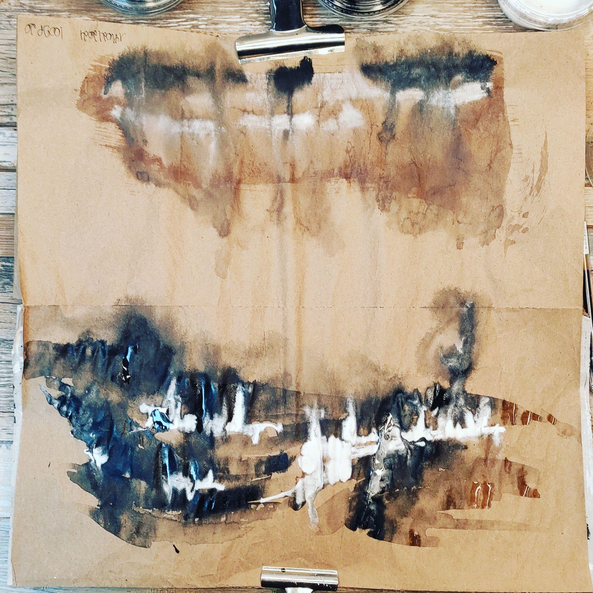 #100dayproject, encre de chine, paysage abstrait