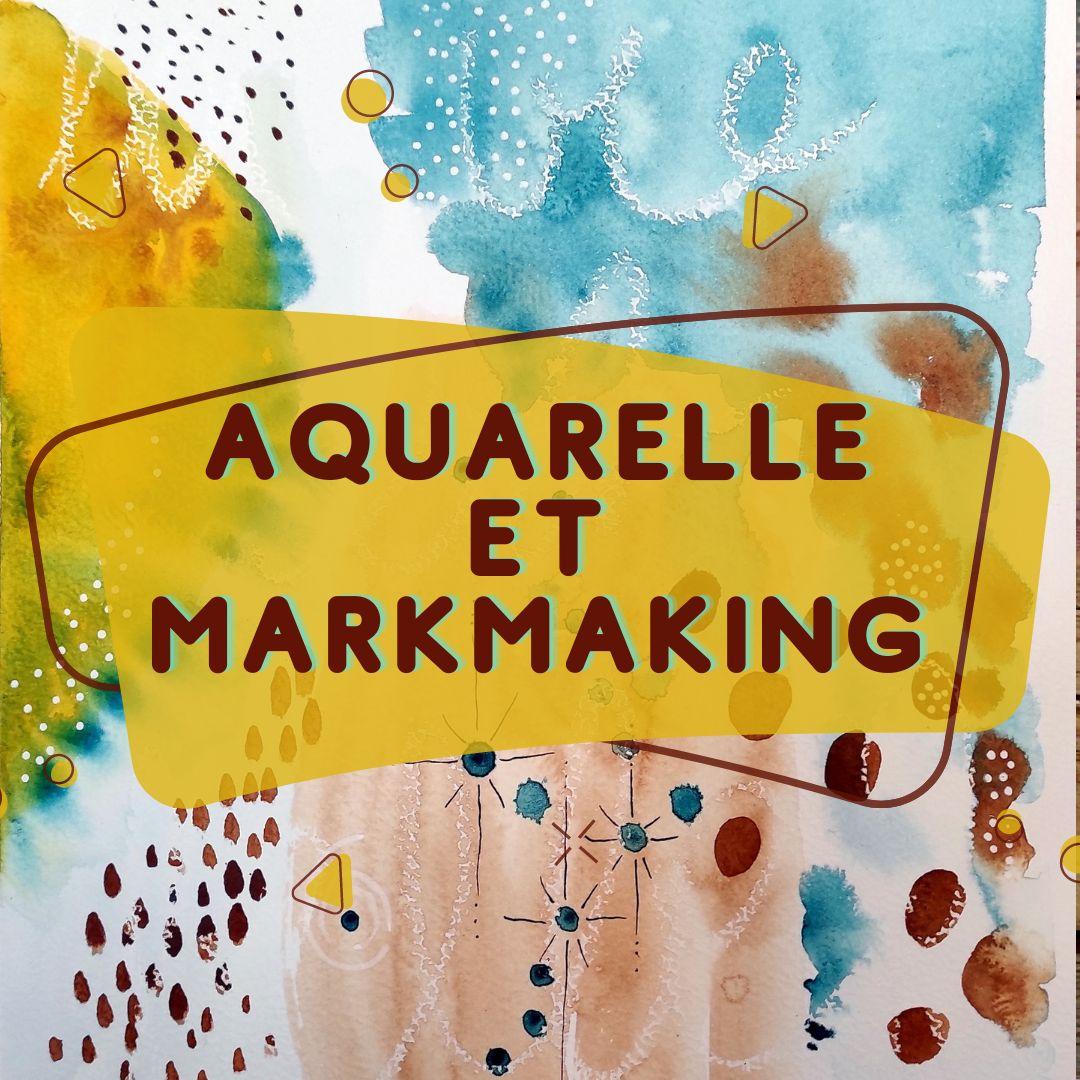 astuce art, tuto art, bleu, jaune, aquarelle, détente, bien être, markmaking