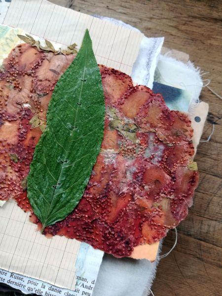 carnet quotidien papier de fraise